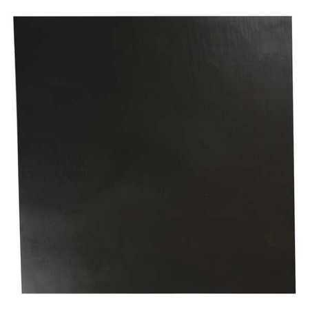 E. JAMES 1/32' Comm. Grade Buna-N Rubber Sheet, 12'x12', Black, 70A, 4070-1/32A