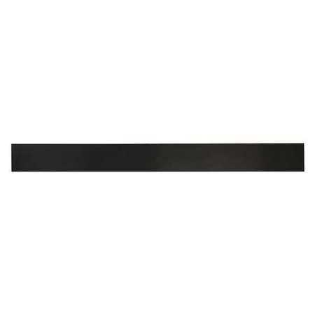 E. JAMES 1/8' Comm. Grade Neoprene Rubber Strip, 2'x36', Black, 60A, 6060-1/8X