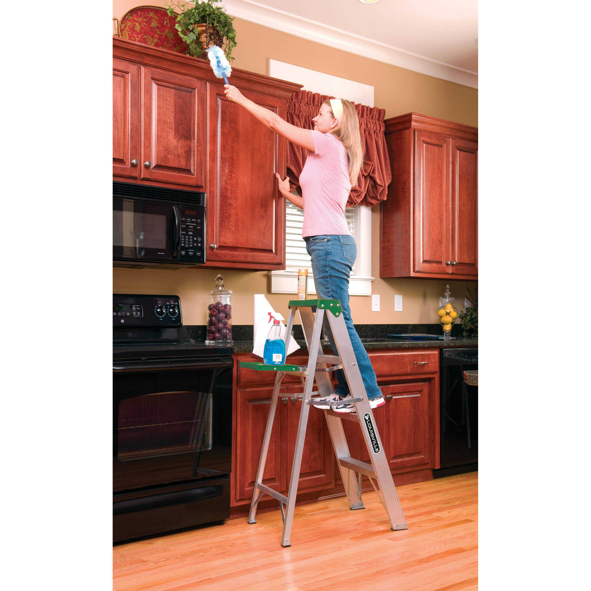 Louisville Ladder AS4003 3 ft. Aluminum Step Ladder, Type II, 225 lbs. Load Capacity