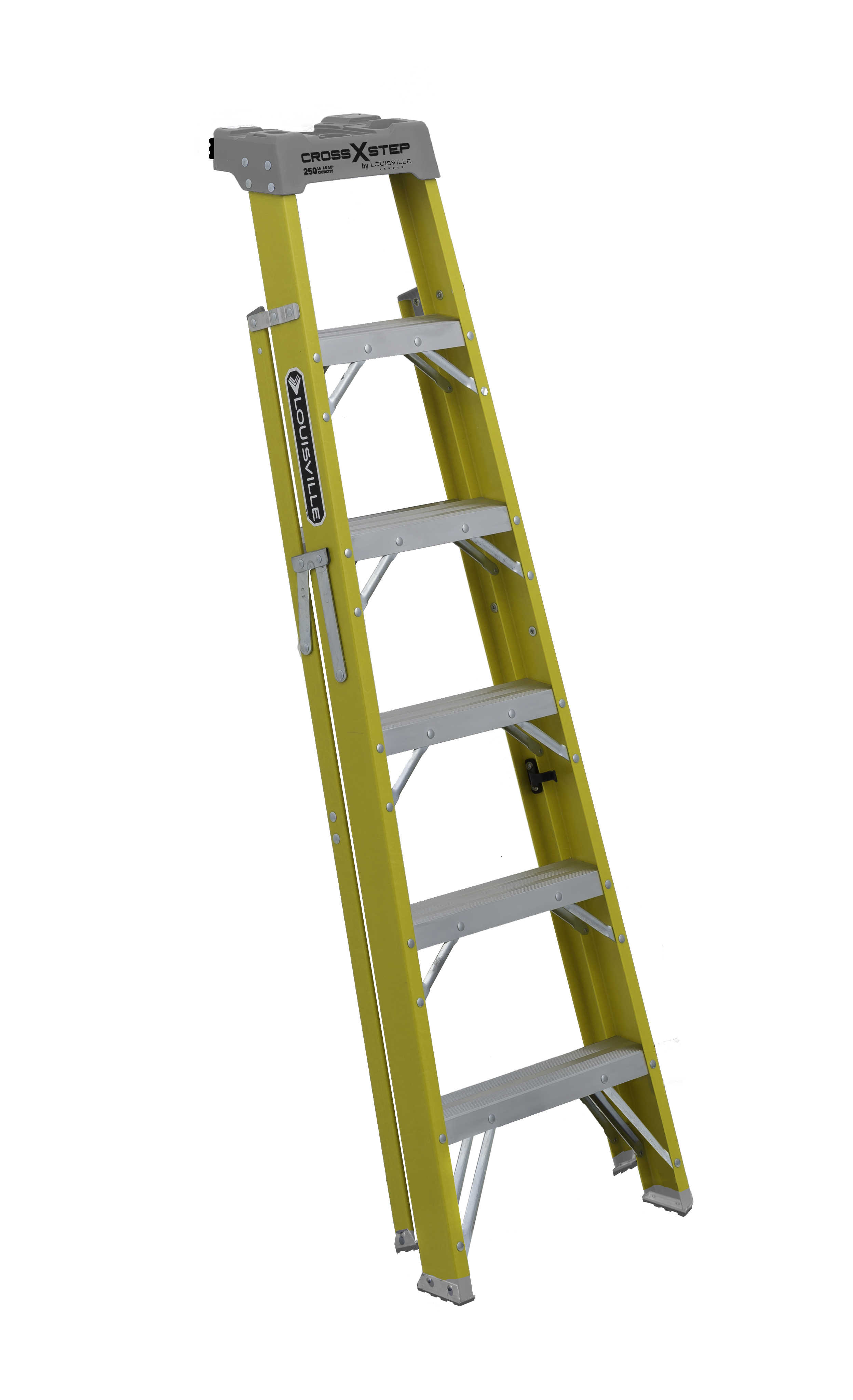Louisville Ladder W-3116-06 6 ft. Fiberglass 2-in-1 Cross Step Ladder, Type I, 250 Lbs Load Capacity