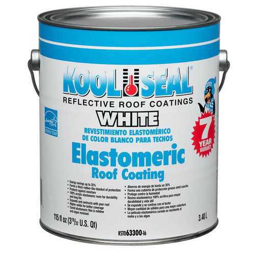 Kool Seal White Elastomeric Roof Coating 1-Gal