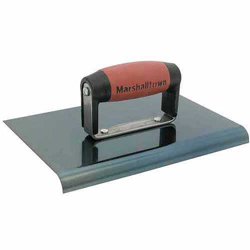 Marshalltown 163BD 6' X 6' Straight End Blue Steel Hand Edger