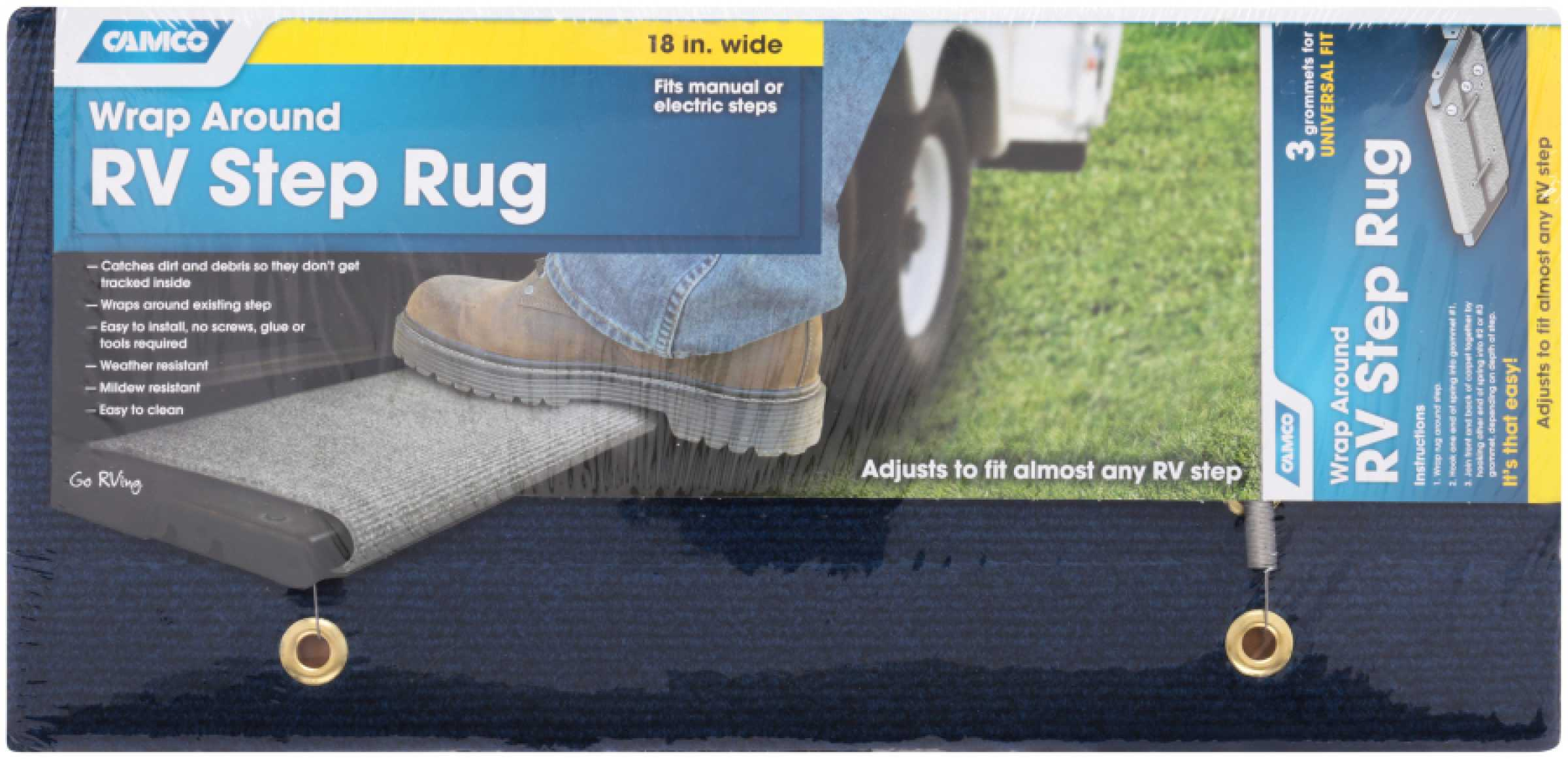 Camco Wrap Around RV Step Rug