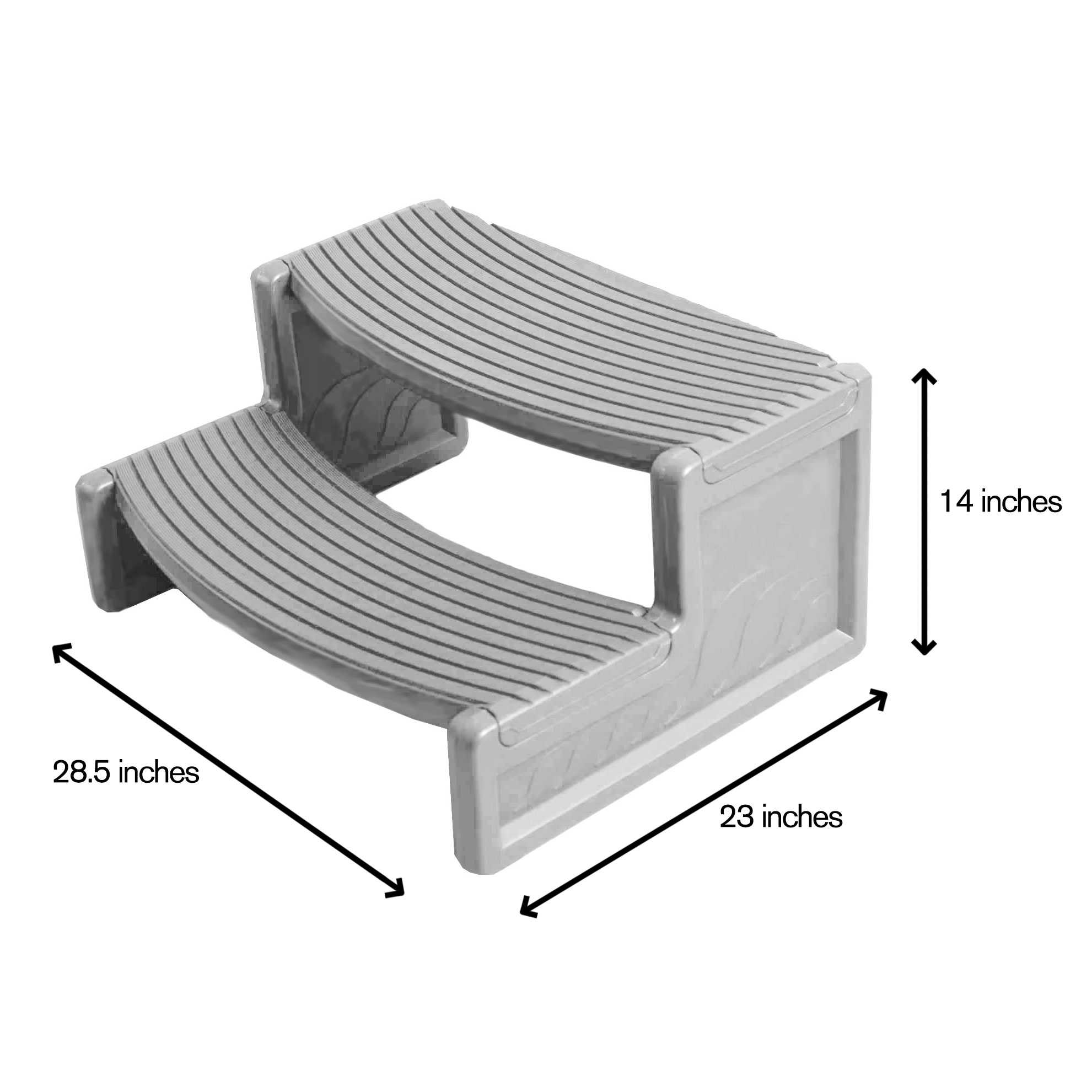 Confer Plastics HS2-G Resin Multi Purpose Spa Hot Tub Handi-Step RV Steps | Gray