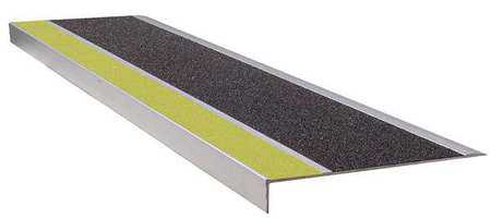 WOOSTER PRODUCTS 300YB5 Stair Tread, Yellow/Black, Extruded Alum