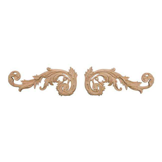 American Pro Decor 5APD10409 Medium Carved Wood Scroll