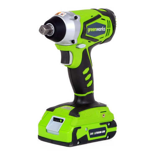 Greenworks 24V Cordless Lithium-Ion Impact Wrench 3800302