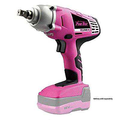 The Original Pink Box PB184IR 18V 1/2-Inch Cordless Impact Wrench (Battery not Included), Pink