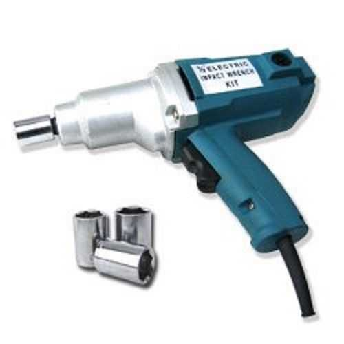 GHP Home/Industrial Portable 1/2' Electric Impact Wrench Gun with Case & Sockets