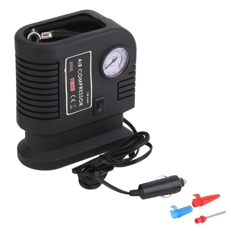 Air Compressor Portable Pump 300 PSI Auto Car SUV Tire 12V volt + 3 adapters TR