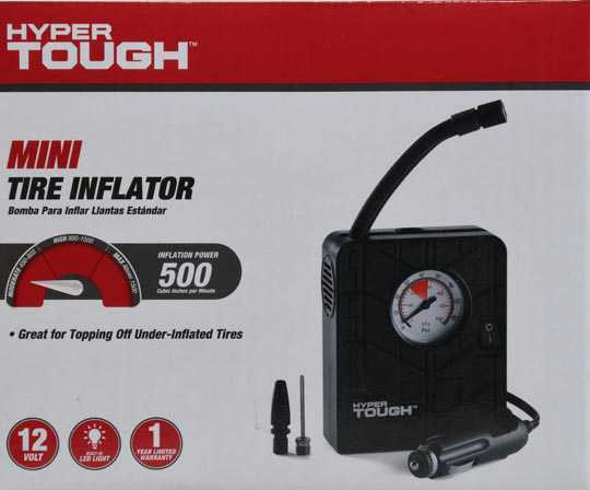 Hyper Tough 12V Mini Tire Inflator