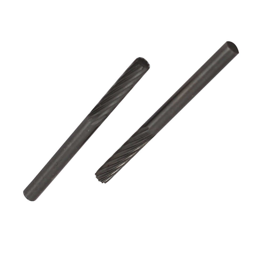 1/8' Dia Head Tungsten Carbide Single Cut Cylinder Shaped Rotary File 2pcs