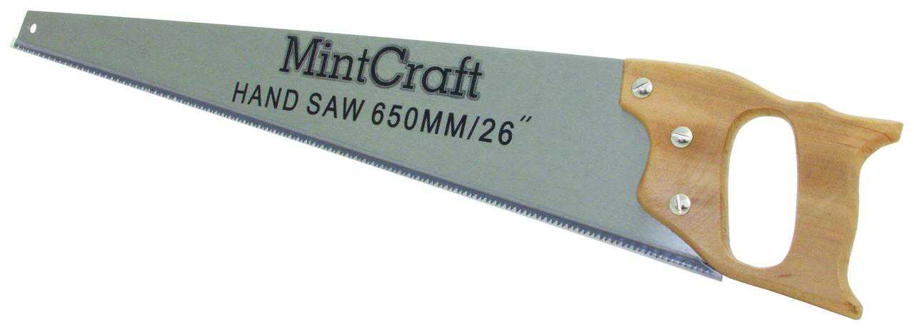 Mintcraft JLO-0433L Standard Cut Hand Saw With Handle, 26 in L, 8 TPI
