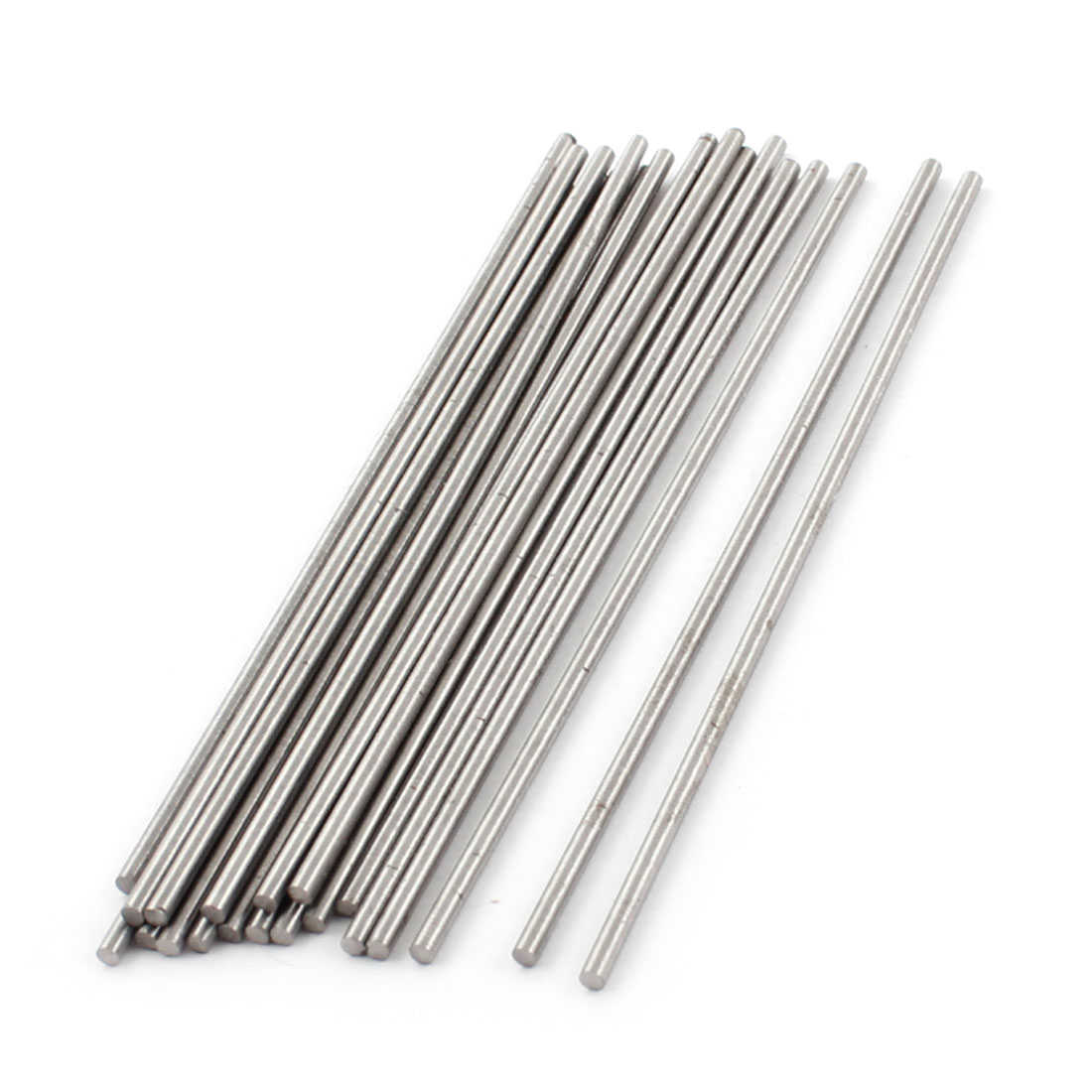 Unique Bargains 2mm x 100mm Silver Tone HSS Straight Turning Tool Round Lathe Rod 20Pcs