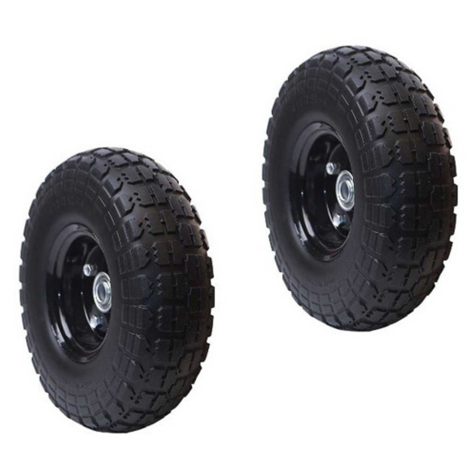 ALEKO 2WNF10 Flat Free Replacement Wheels for Wheelbarrow, 10' No Flat Tire, Black Pack of 2