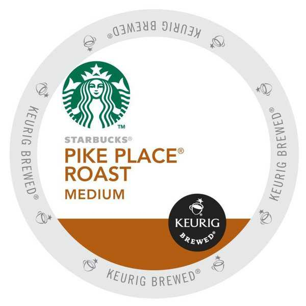 Starbucks Pike Place Roast Coffee, K-Cups Portion Pack for Keurig Brewers